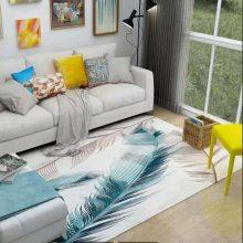水晶绒印花地毯定制 彩色印花卧室地毯家用满铺地毯大面积