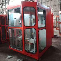 供应1.4*1.6司机室外壳 含走台 优质钢化玻璃司机室操作室
