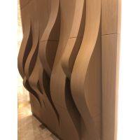 弧形铝方通定制-木纹圆弧形铝方通吊顶装饰材料