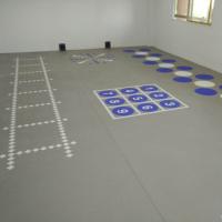 直供扬州3D私教定制地胶 /健身房定制地板/360定制地胶厂家