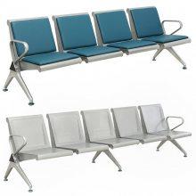 排椅三人位,304全不锈钢连排椅,公共座椅,等候椅,车站长休息椅,机场椅-深圳市北魏座椅有限公司