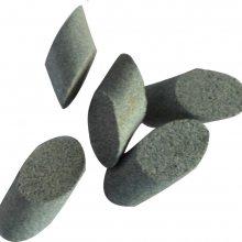 湖州金源生产直销一级棕刚玉斜圆柱磨料、棕刚玉抛光石,切削力去毛刺效果好