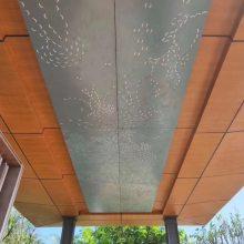 广汽本田4S店铝单板天花吊顶-外墙装饰铝格栅
