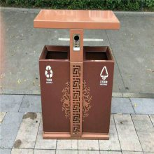 市政环卫挂车桶厂家 小区物业垃圾箱价格 鑫龙飞道路边分类垃圾桶批发