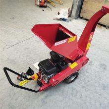 湿树皮桉树木头粉碎机-小型移动式树叶碎枝机-柴油机带木材粉碎设备