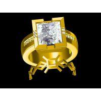 925银镶嵌红水晶男款戒指企业定制 戒指拿不下来了 —镶钻首饰加