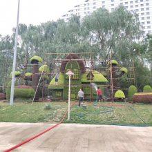 四川贵州重庆仿真植物绿雕厂家 假植物雕厂家直销哦 假草坪绿雕