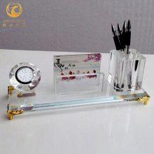 无锡工厂乔迁礼品,答谢客户商务摆件,水晶笔筒办公工艺品