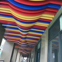 弧形拉弯型材铝方通天花-造型异形铝方通吊顶