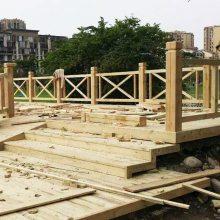 庭院防腐木栈道铺设木结构亲水平台施工休闲景区景观道路工程