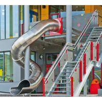 带光式不锈钢滑梯 非标不锈钢螺旋滑梯 户外不锈钢滑梯厂家定制