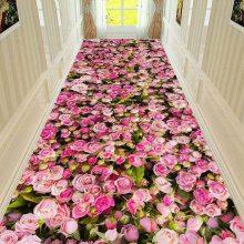 水晶绒印花地毯定制 满铺过道阳台地垫门垫进门口家用可裁剪