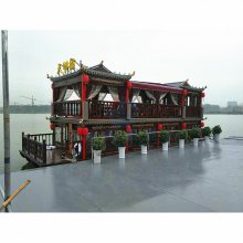 JD-HF003厂家定做带顶带动力的画舫木船可以办证