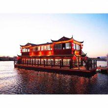 厂家定制可以拿证的观光接待大型双层画舫游船配茶水间