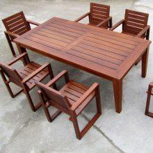 防腐木户外桌椅木质公园桌子景观休闲椅子定制庭院别墅景观施工