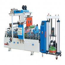广东盛凯瑞塑机SKR-600宽pur胶包覆机生产厂家 墙板包覆机设备覆膜效果好