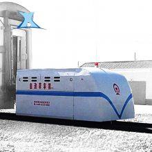 火车头车厢牵引设备 蓄电池遥控平板车_新乡百特