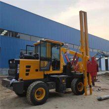装载式护栏打桩机液压公路护栏立桩机工程护栏打桩机