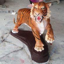 风水镇宅仿真老虎摆件树脂家居饰品客厅商场动物玻璃钢雕塑工艺品