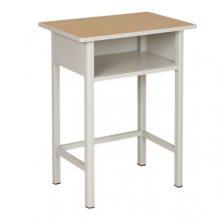 山东校用双人课桌椅 学校招标用钢木课桌椅