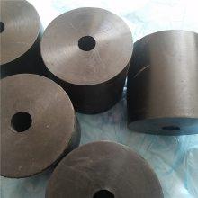 天然胶橡胶减震垫块 减震缓冲橡胶柱 黑色圆形橡胶减震块 可定制