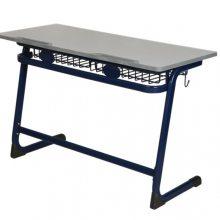 河北学校用连体桌椅 双人连体课桌椅