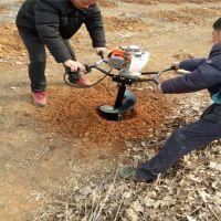 50公分种植挖坑机 冰面汽油打眼机 独轮款挖坑机