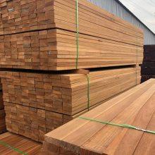 原木加工 铜仁南美菠萝格室外防腐木地板