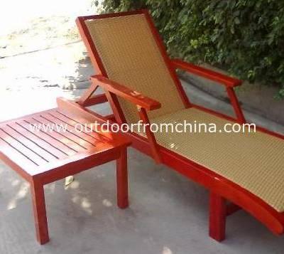 供应大连实木沙滩椅/大连海边木制躺椅/户外休闲沙滩椅