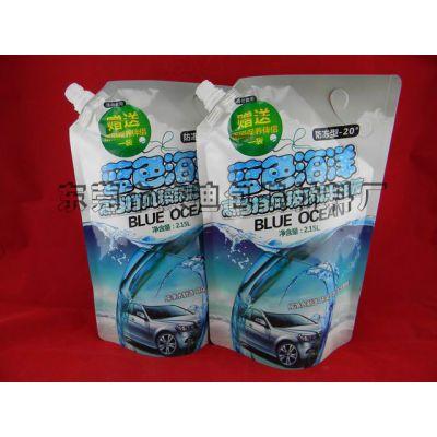供应玻璃水包装吸嘴袋 汽车车窗洗涤剂