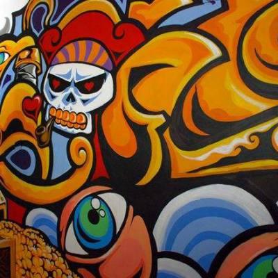 供应江西吉安井冈山墙体彩绘 井冈山文化墙彩绘 围墙彩绘手绘