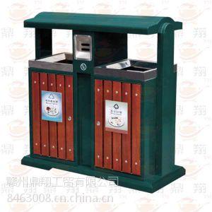 供应江西赣州低价钢木垃圾箱南昌街道垃圾箱景点垃圾桶