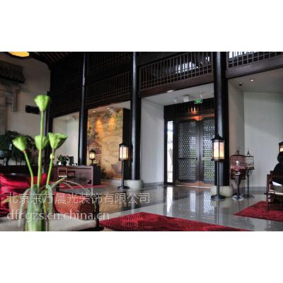 供应古典中式装修中式会所设计***别墅设计中式风格