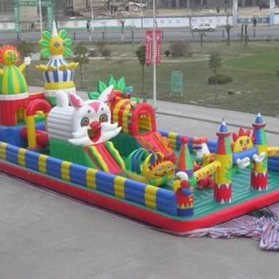 心悦厂供应儿童充气蹦床生产大型充气跳床玩具充气城堡气模
