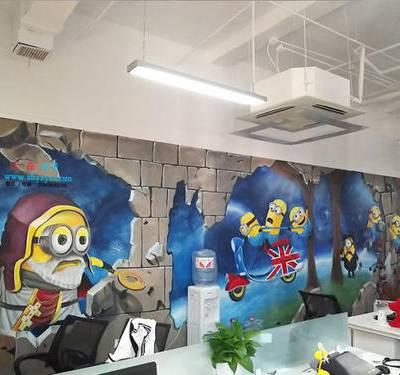 供应江西吉安井冈山墙面彩绘 手绘墙 墙体彩绘 文化墙围墙彩绘手绘