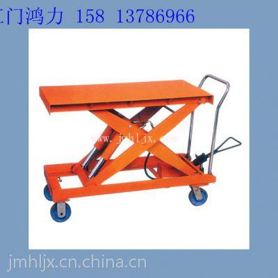 出口超市车间车站搬运行李的平台车和超市运货手动推车 WP系列移动式升降台 广州批发