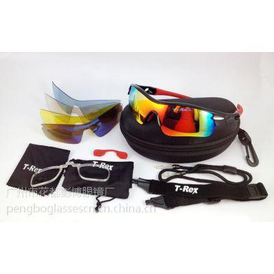 广州供应旋转脚眼镜运动镜 可换片骑行眼镜 护目镜BP-6059黑色
