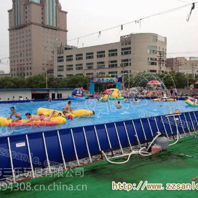 全新钢架游泳池,大型支架水池供应山东