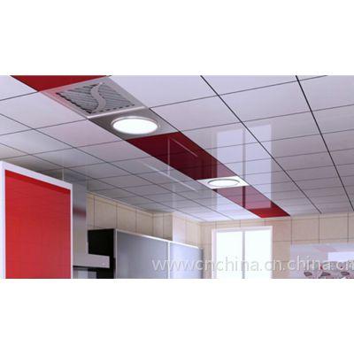 600x600铝扣板,0.8厚白色铝方板吊顶天花