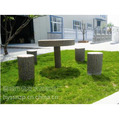 供应山东聊城水泥仿木桌椅,座椅,长廊,树围