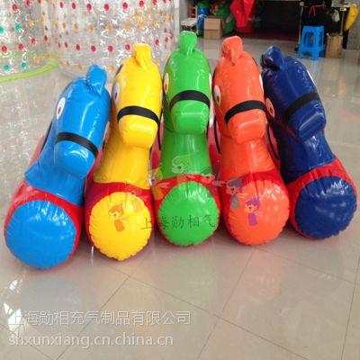 充气小马快跑小马赛道趣味运动会道具充气跳跳马户外扩展体育玩具