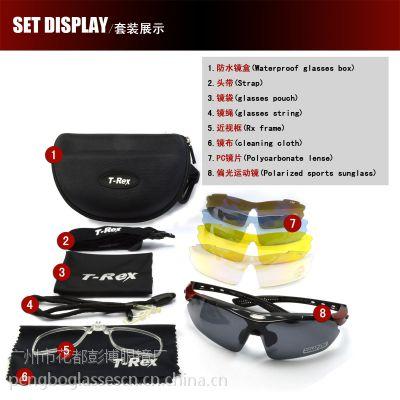 供应可配近视运动镜5片太阳镜 TAC偏光骑行镜 防雾眼镜T-REX BP-6059