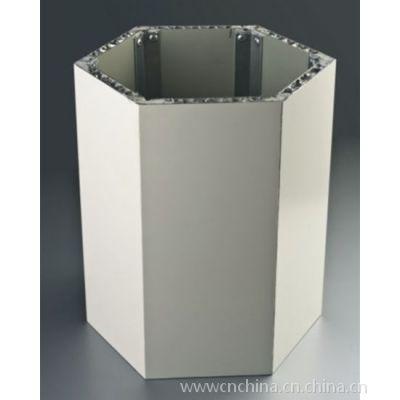 广州圆弧形石纹铝蜂窝板@包圆柱大理石铝蜂窝板厂家报价