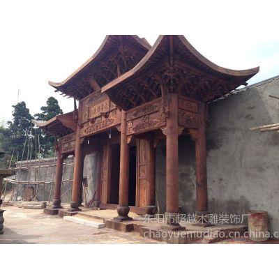 供应承接明清古居等中式仿古建筑门楼的设计装修施工