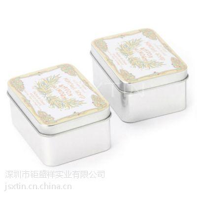 手工皂方形小铁盒 精品香皂化妆品马口铁铁罐