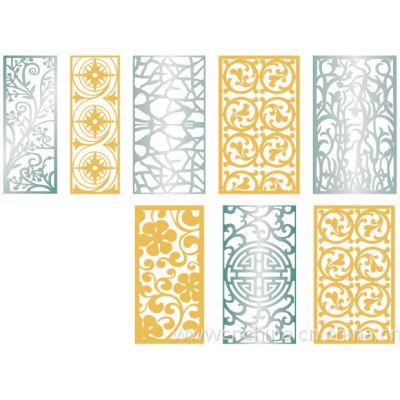 外墙镂空造型氟碳铝单板@木纹雕刻铝窗花厂家款式设计定做