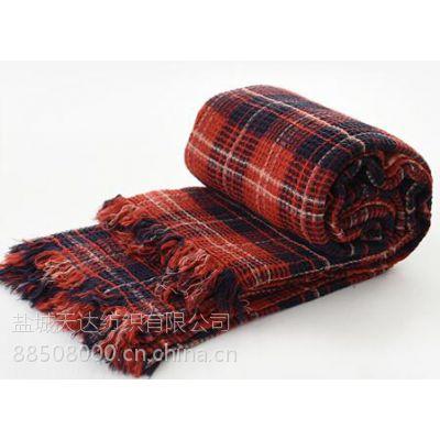 东洋织造全棉水洗华夫格毯子花红军牌NO.3212