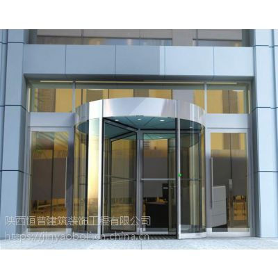 西安玻璃地弹门玻璃感应门玻璃自动门对讲门加工安装