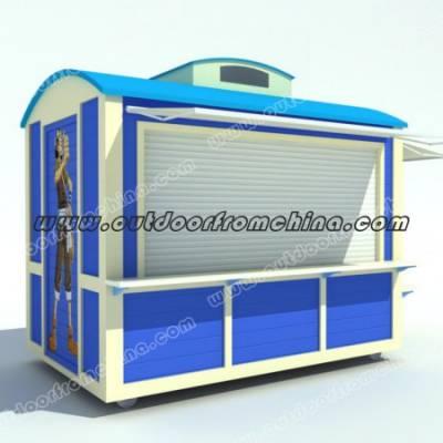 室内商场售卖亭 户外玻璃钢售货车 景区移动手推车 贩卖车