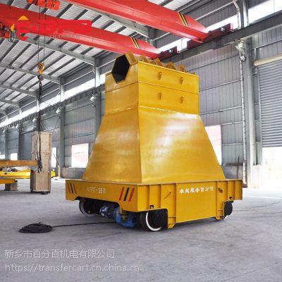 巩义40吨摆渡轨道车 电动平台摆渡车 喷砂房用镂空台面轨道平板车